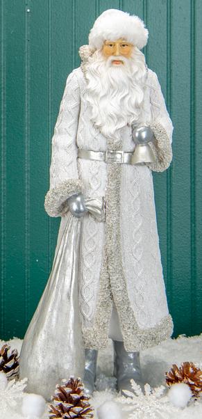 Silver Cable Knit Santa