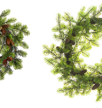 Norway Spruce Wreath with Pinecones