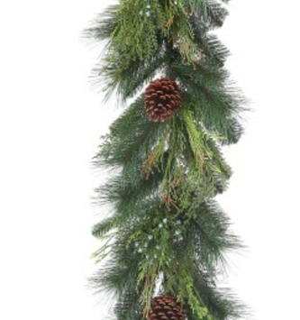 5-ft Woodland Pinecone Greenery Garland