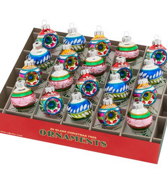 Set of 20 Mini Old World Christopher Radko Ornaments