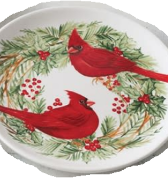 Double Cardinal Candle Plate