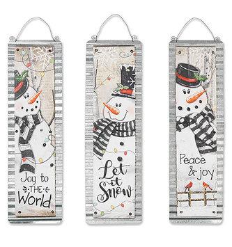 Galvanized Snowman Sign (3 Styles)