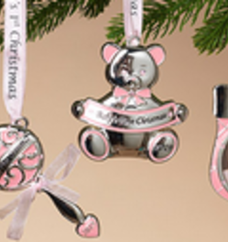 Baby Girl's 1st Christmas Ornament