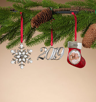 Silver Plated 2019 Ornament (3-Styles)