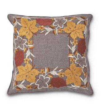 Cut-Out Fall Leaves Pillow