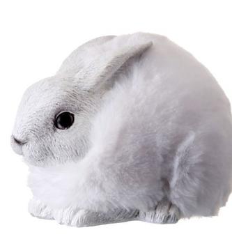 White Furry Snow Bunny