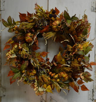 Autumn Fig Hydrangea Wreath