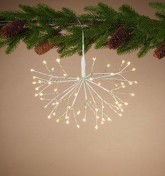 Hanging White LED Starburst