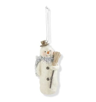 Small Shimmer Snowman Ornament