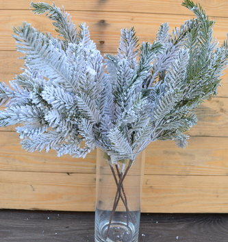 Flocked Cypress Spray