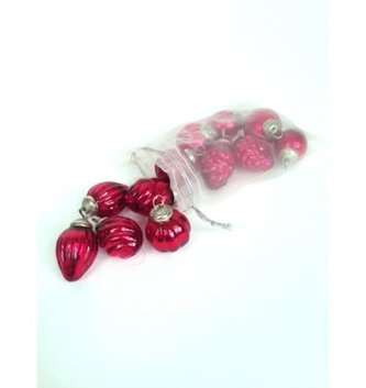 Set of 12 Antique Mini Glass Ornaments (2 Colors)