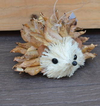 Seed Pod Hedgehog Ornament
