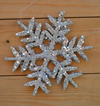 Two-Sided Iced Snowflake Ornament