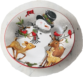 Frosty and Friends Plate (4 Styles)