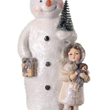 Vintage Iced Snowman & Child