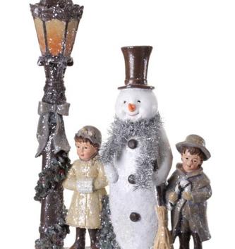 Vintage Iced Snowman Scene