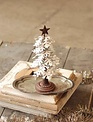 Metal Snowy Christmas Tree