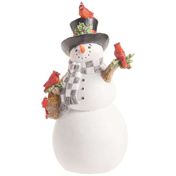 Frosty the Snowman with Cardinals