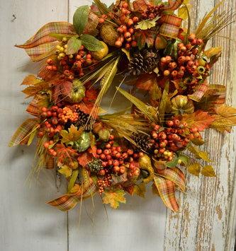 Custom Fall Pumpkin Ribbon Wreath