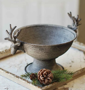 Gray Distressed Deer Container