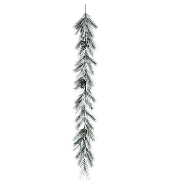6-Ft. Mixed Snowy Pine Garland