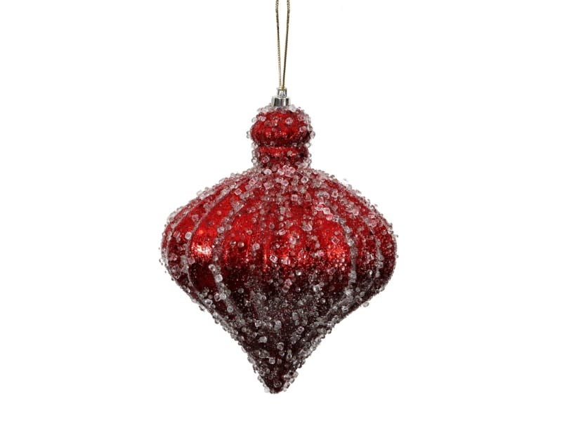 Iced Red Imperial Ornament
