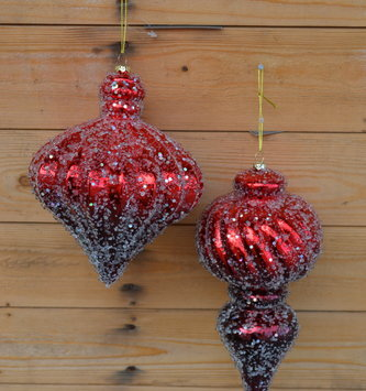 Iced Red Imperial Ornament (2 Styles)