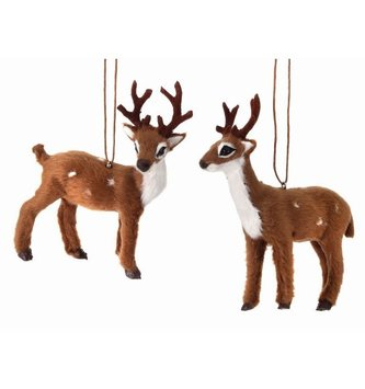 Small Furry Buck Ornament (2-Styles)