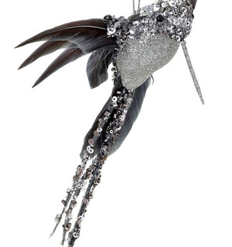 Glitter Beaded Hummingbird Ornament (2-Colors)