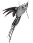 Glitter Beaded Hummingbird Ornament (2-Colors)