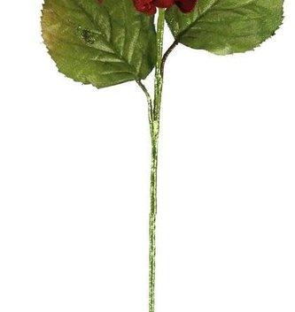 Red Glitz Holiday Hydrangea Stem