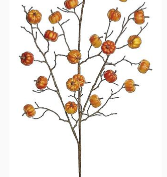 "40"" Mini Orange Pumpkin Branch"