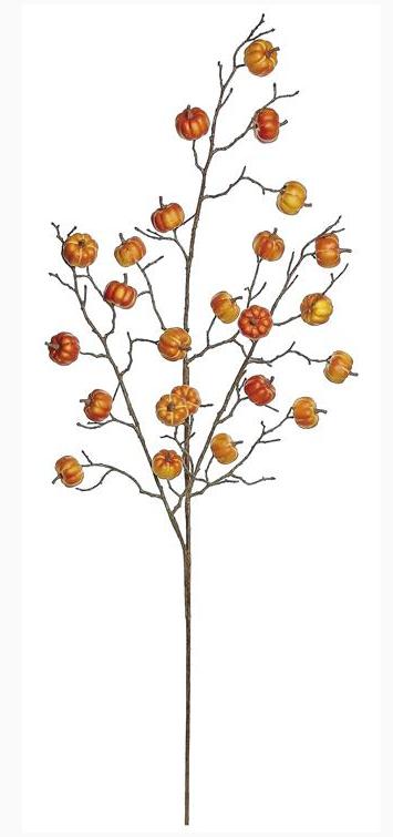"40"" Mini Orange Pumpkin Branch"