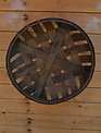 Round Wooden Lattice Basket