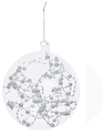Silver Beaded Wire Glass Ball Ornament