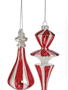 Peppermint Finial Drop Ornament (2 Styles)