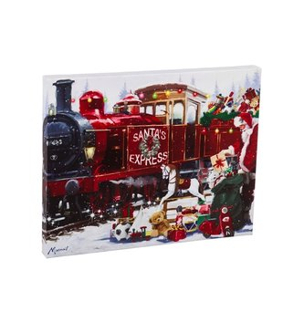Musical LED Santa Express Canvas