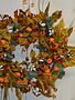 Custom Autumn Fig and Mini Pumpkin Wreath
