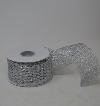 Flex Net Stretch Metallic Wired Edge Ribbon