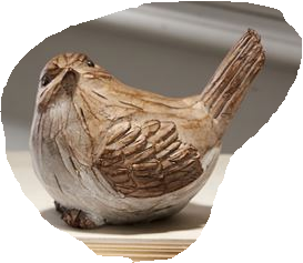 Carved Brown Bird