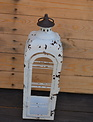 Distressed Metal Open Lantern