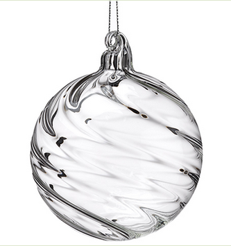 Spiral Glass Ball Ornament