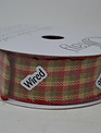 Country Classic Plaid Wired Ribbon