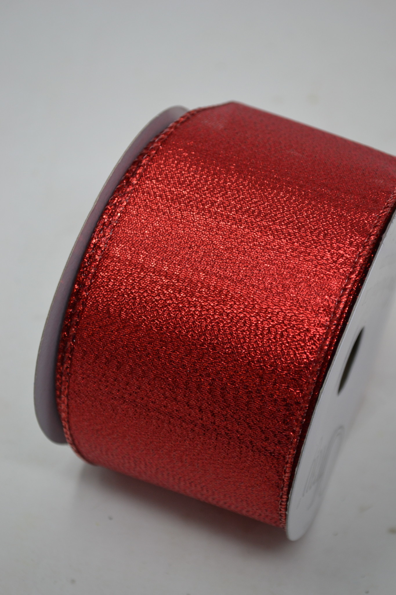 Shimmer Red Wired Ribbon