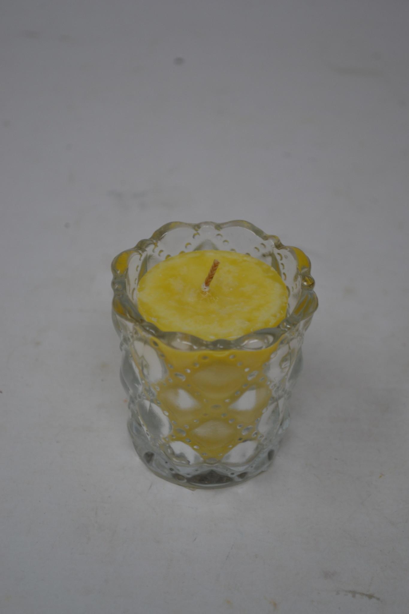 Patterned Glass Votive Holder