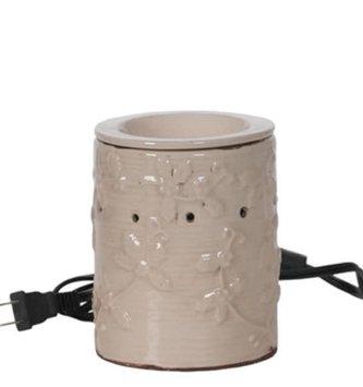 Distressed Cream Vine Wax Warmer