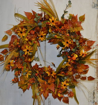 Custom Golden Bittesweet Wreath
