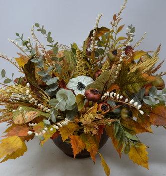 Custom Round Autumn Arrangement