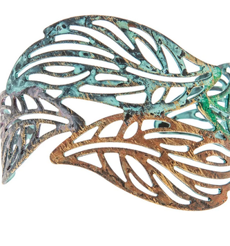Color-Wash Leaf Cuff Bracelet