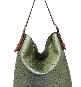 Vegan Leather Boardwalk Bag In A Bag Green